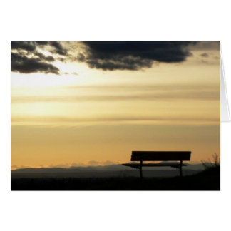 Bench at Sunset Card