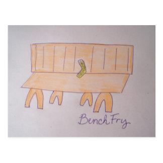 Bench Fry Postcard