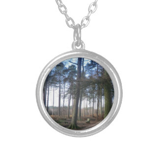 Bench in Delamere Forest Custom Necklace