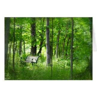 Bench In Woods Card