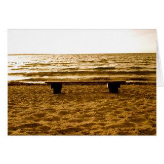bench on Aero Greeting Card