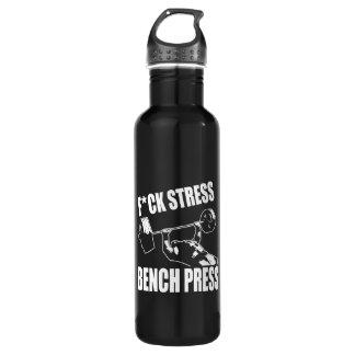 BENCH PRESS, F*CK STRESS - Workout Motivational 710 Ml Water Bottle