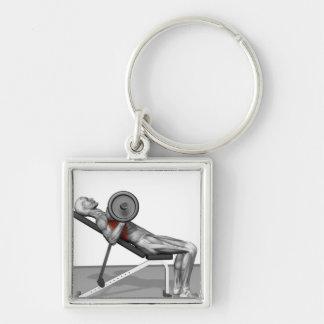 Bench Press Incline Key Chains