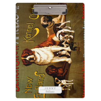 Bench Show. New England Kennel Club Clipboards