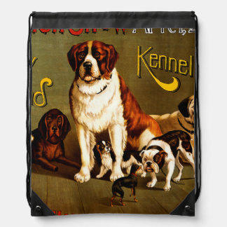 Bench Show. New England Kennel Club Drawstring Backpacks
