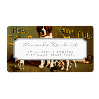 Bench Show. New England Kennel Club Shipping Label