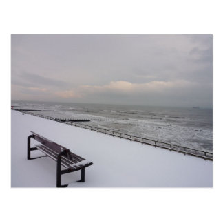 Bench, Snow and Sea Postcard