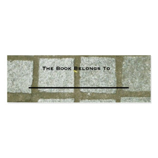 Bench Tiles Bookmark Pack Of Skinny Business Cards