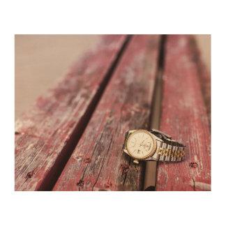 Bench Watch Wood Print