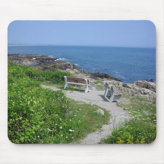 Benches in Maine Mouse Mat