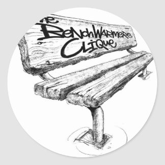 benchwarmers_logo_sharpened mid classic round sticker