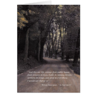 Bend in the Buffalo Road - Shakespeare quote Card