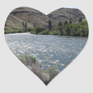 Bend in the River Heart Sticker