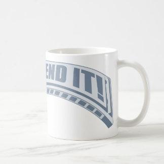Bend it! basic white mug