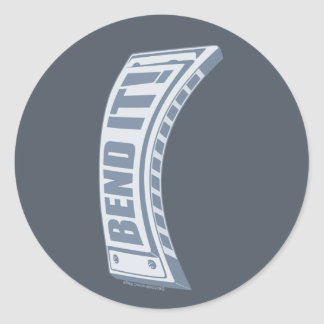 Bend it! classic round sticker