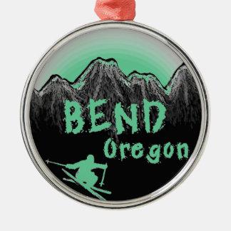 Bend Oregon artistic skier Christmas Ornament