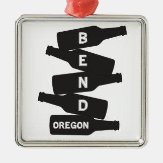 Bend Oregon Beer Bottle Stack Logo Christmas Ornament