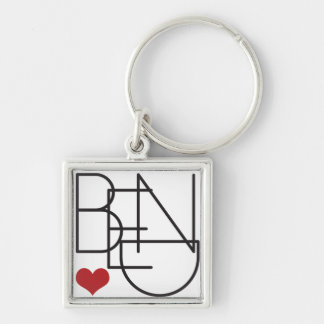 Bend Oregon Word Heart Logo Key Ring