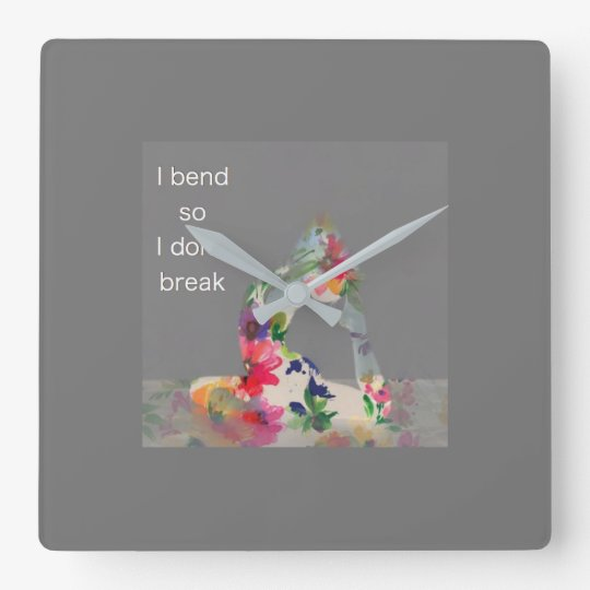 Bend Time Yoga Clock
