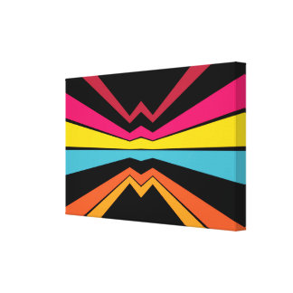 Bended stripes abstract design stretched canvas print