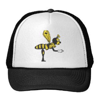 Bending bee mesh hat