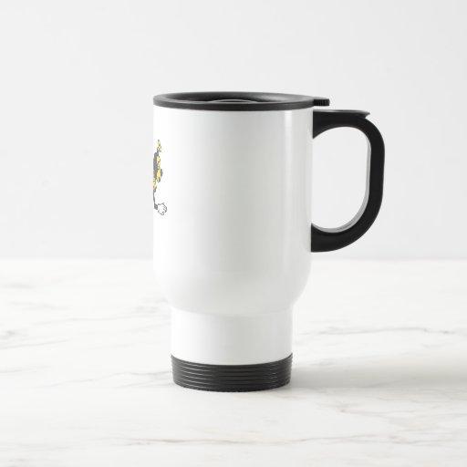 Bending bee stainless steel travel mug