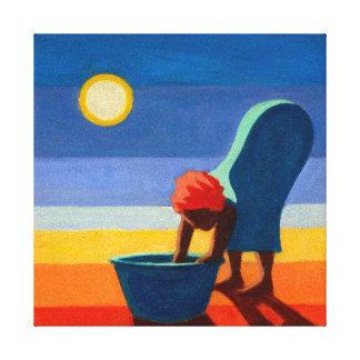 Bending Woman 2005 Canvas Print