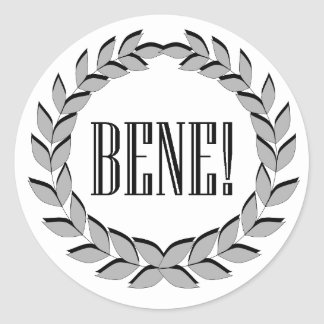 Bene! Good job! Classic Round Sticker