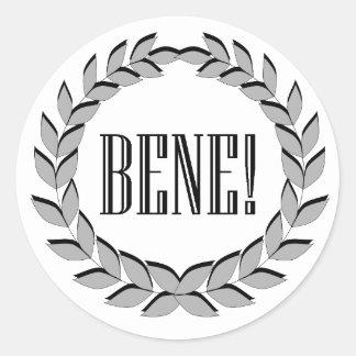 Bene! Good job! Round Sticker