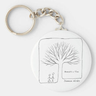 Beneath a Tree Cover Key Ring