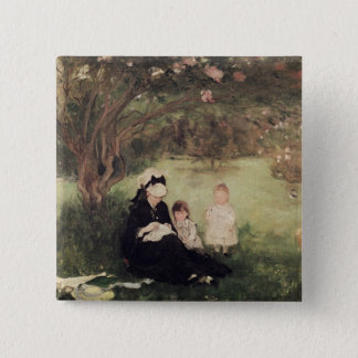 Beneath the Lilac at Maurecourt, 1874 15 Cm Square Badge