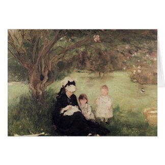 Beneath the Lilac at Maurecourt, 1874 Greeting Card