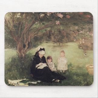 Beneath the Lilac at Maurecourt, 1874 Mouse Pad