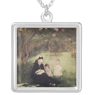 Beneath the Lilac at Maurecourt, 1874 Silver Plated Necklace