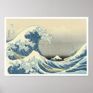 Beneath the Wave of Kanagawa, Hokusai, 1830-32 Poster