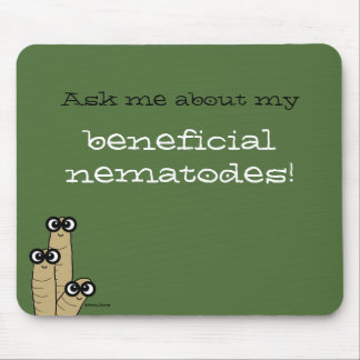 Beneficial Nematodes Garden Science Humor Green Mouse Pad
