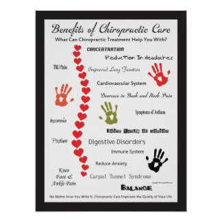 Benefits of Chiropractic Care Heart Spine Poster