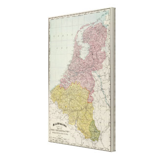 Benelux Countries Canvas Print