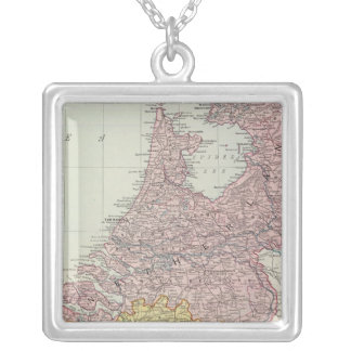 Benelux Countries Silver Plated Necklace