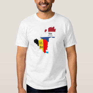 Benelux map t-shirts
