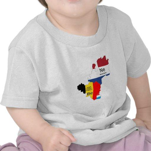 Benelux map tshirts