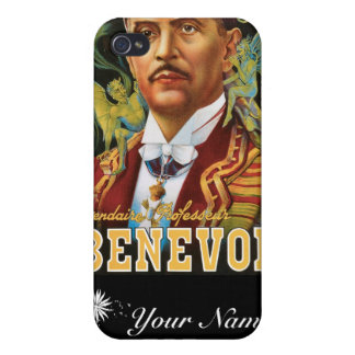 Benevol ~ Italian Magician Vintage Magic Ad Case For The iPhone 4