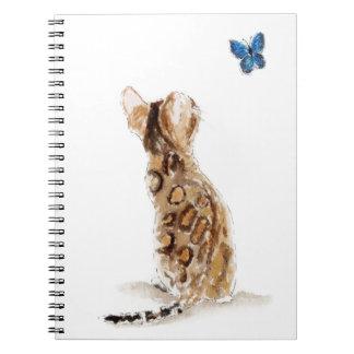 Bengal Cat  & Butterfly Notebook