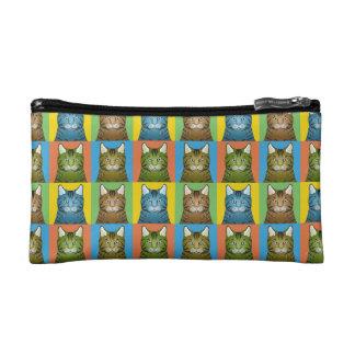 Bengal Cat Cartoon Pop-Art Cosmetic Bag