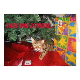 BENGAL CAT CHRISTMAS GREETING CARD