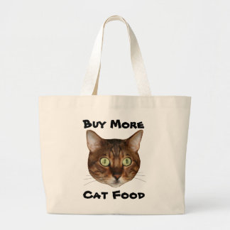 Bengal Cat Head Large Tote Bag