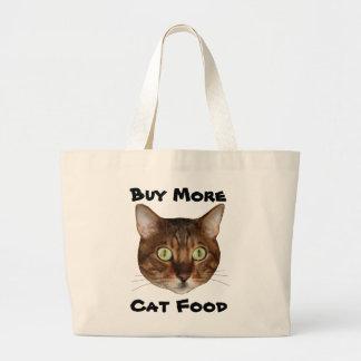Bengal Cat Head Jumbo Tote Bag