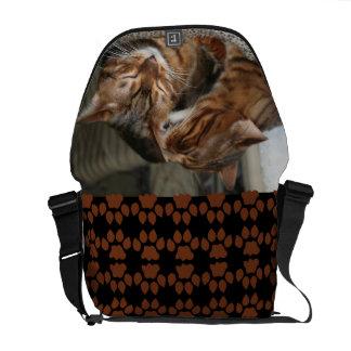 Bengal Cat Kiss Messenger Bag
