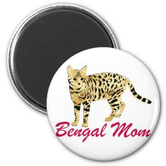 Bengal Cat Mom 6 Cm Round Magnet