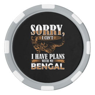 Bengal Cat Poker Chips
